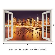 Window Frame Mural New York City Peel And Stick 3d Wall Decal Royalwallskins