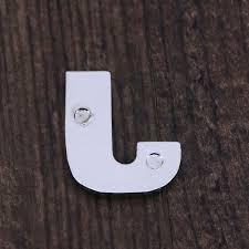 1pc Fashion Metallic Stylish Silver Letter J Car Alphabet Sticker Emblem Sticker Car Styling Decal Badge Decal Decal Car Stickers Aliexpress