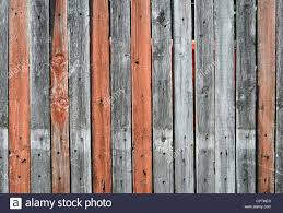 Close Up View Of An Old Wooden Fence With Gray And Orange Mixed Stock Photo Alamy