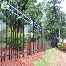China Steel Square Tube Design Galvanized Zinc Garrison Metal Fencing China Garrison Fencing Iron Tubular Fence