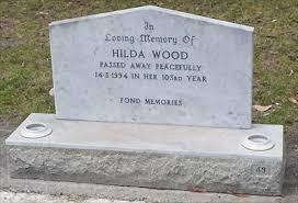 102 - Hilda Wood, Manjimup Memorial Cemetery, Western Australia -  Headstones of Centenarians on Waymarking.com