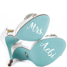 Something Blue For Your Shoe Vinyl Decal For Wedding Shoes Personalized Bridal Gift In 2020 Personalized Bridal Gifts Vinyl Shoe Personalized Bridal