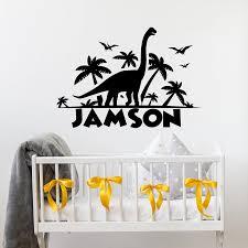 Baby Boy Name Custom Wall Decals Dinosaur Nursery Wall Decor Vinyl Wall Sticker Personalized Name Kids Room Decor Decal X833 Wall Stickers Aliexpress