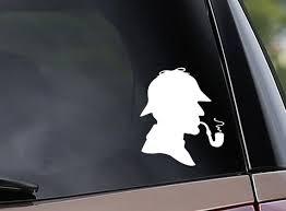 Sherlock Holmes Inspired Vinyl Car Decal Window Decal Etsy