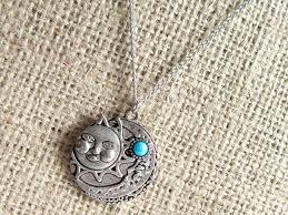 imitation turquoise sun moon silver