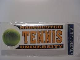 Tennis Car Decal Manchester University Campus Store