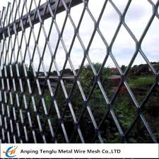 Expanded Metal Fencing Panels 0 5mm Steel Wire Fencing For Sports Fields China Factory Of Stainlesssteelwiremeshfactory