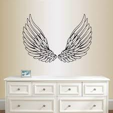 Amazon Com In Style Decals Wall Vinyl Decal Home Decor Art Sticker Pair Of Angel Or Eagle Wings Kids Bedroom Living Room Removable Stylish Mural Unique Design 2102 Home Kitchen