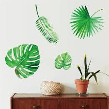 Green Banana Leaf Wall Stickers Palm Leaves Wall Decal Plant Art Home Decor Removable Mural Banana Leaf Wall Stickers Wish