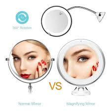 hd foldable makeup mirrors suction cup