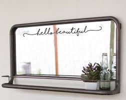 So I Can Kiss You Anytime I Want Wall Decal Mirror Decal Bathroom Decor Beautiful Mirrors