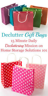 how to declutter gift bags