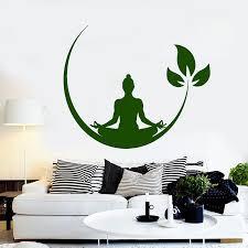 Yoga Meditation Wall Decals Buddhist Zen Wall Stickers Room Art Mural Yoga Room Poster Home Bedroom Decoration H162 Bedroom Decor Wall Stickerstickers Room Aliexpress