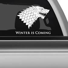 Got House Stark Car Decals The Decal Guru