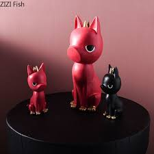 Nordic Calm Samurai Dog Ornaments Cartoon Animal Miniature Figurines Gifts For Kids Desktop Decor Children S Room Decoration A Akolzol Com