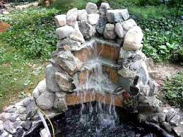 waterfall homemade backyard you