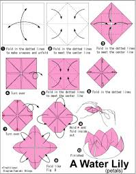 attractive lily origami instructions