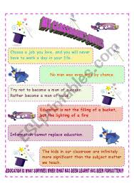 my classroom quotes esl worksheet by georgya