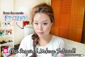frozen elsa inspired makeup tutorial