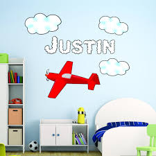 Personalized Airplane Wall Decal Customized Boys Name Decal Aviation Decor Ttc11 P