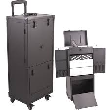 professional makeup case with drawers
