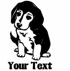 Beagle Puppy Dog Custom Vinyl Decal Sticker For Cars Windows Laptops And More Ebay