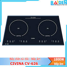 COMBO Bếp điện đôi âm 1 bến từ 1 bên hồng ngoại Civina CV-676+ Máy hút mùi  Civina CV-700D