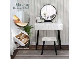makeup vanity dressing table wood desk