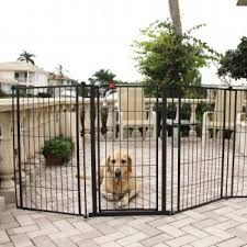 I Really Like The Black Color Of This Dog Barrier Fence My Husband And I Are Planning On Getting A Puppy And Outdoor Pet Gate Outdoor Dog Gate Tall Pet Gate
