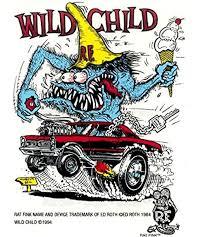 Amazon Com Rat Fink Wild Child Hot Rod Decal Sticker Kitchen Dining