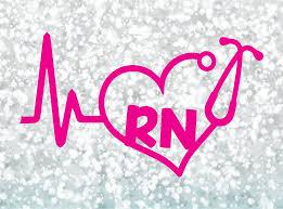 Rn Registered Nurse Heartbeat Rhythm Vinyl Decal Window Sticker Car