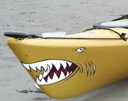 Shark Kayak Decal Etsy