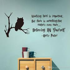 Potter Quote Wall Decal Working Hard Believe In Yourself Vinyl Decal Potter Inspirational Motivational Quote Stickers Walls Super Mario Wall Stickers From Onlinegame 10 76 Dhgate Com