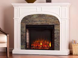 tanaya white electric fireplace mantel