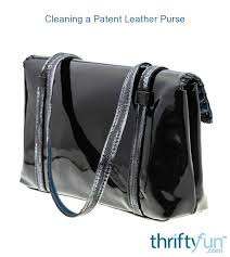 cleaning a patent leather purse