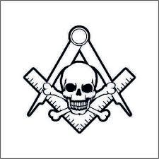 Mason Freemason Skull Vinyl Decal Sticker 2 Two Pack Ebay