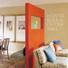 to build a freestanding divider wall