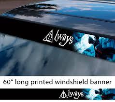 Buy 60 Deathly Dementor Deer Hallows Patronus Hogwarts Voldemort Charm Sun Strip Printed Windshield Car Vinyl Sticker Decal