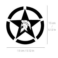 Spartan Star Sticker Sparta Army Decal Vinyl For Car Bike Truck Black White 13cm Unbranded In 2020 Vinyl For Cars Star Stickers Sparta Army