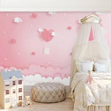 Custom 3d Photo Wallpaper Pink Clouds Princess Children Room Girls Bedroom Background Decoration Mural Wallpaper For Kids Room Wallpapers Aliexpress