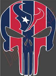 Houston Texans Punisher Sticker Decal Emblem Car Truck