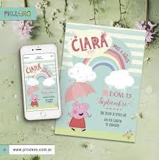 Kit Imprimible Peppa Pig Lluvia De Corazones Y Arcoiris