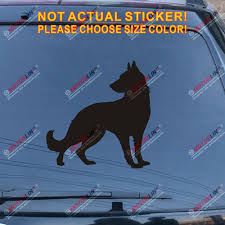 German Shepard Police K9 Dog Sticker Gray Blue Flag Cup Car Window Bumper Decal Rainbowlands Lk
