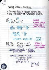 solving rational equations inb pages