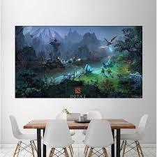 Dota 2 Mid Lane Video Game Block Giant Wall Art Poster