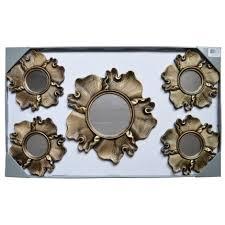 5 piece antique gold decorative wall