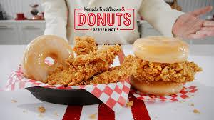 donut and fried en sandwich