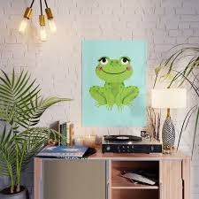 Frog Cute Kids Room Decor Baby Nursery Poster By Charlottewinter Society6