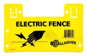 10 Gallagher Electric Fence Warning Signs G602404 Farm Fencing Wire Gallagher Electric Fencing From Valley Farm Supply