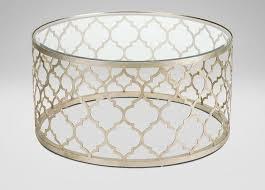gold round trellis coffee table